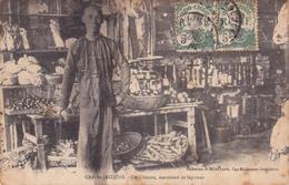 INDOCHINE,2 TIMBRES INDO-CHINE,VIET NAM,CAP SAINT JACQUES,METIER,VUNG TAU,MARCHAND,1911,RARE - Viêt-Nam