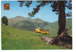 CPM ANDORRE VALLS D'ANDORRA  Coll De La Botella Camion MERCEDES Excursions - Andorra