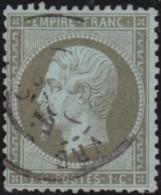 France         .    Yvert       .        19        .       Oblitéré - 1862 Napoléon III