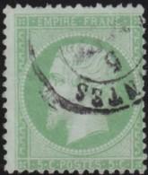 France         .    Yvert       .        20        .       Oblitéré - 1862 Napoléon III