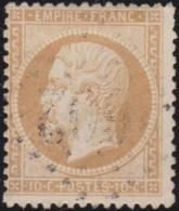 France         .    Yvert       .        21        .       Oblitéré - 1862 Napoléon III