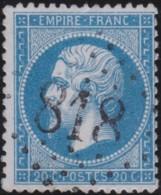 France         .    Yvert       .        22        .       Oblitéré - 1862 Napoléon III