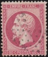 France         .    Yvert       .        24        .       Oblitéré - 1862 Napoléon III