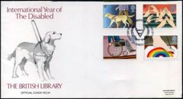 Great-Britain - FDC - International Year Of The Disabled - 1981-1990 Em. Décimales