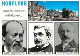 14 - Honfleur - Ses Hommes Célèbres - Multivues - Eugène Boudin - Alphonse Allais - Albert Sorel - Carte Neuve - CPM - V - Honfleur