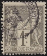 France    .    Yvert  .    72          .   O      .        Oblitéré - 1876-1878 Sage (Type I)