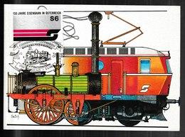 N 618) Österreich 6 Maxicards Eisenbahn Lokomotiven, Zahnradbahn Achsensee - Eisenbahnen