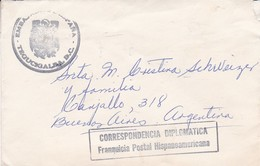 CORRESPONDENCIA DIPLOMATICA, FRANQUICIA POSTAL HISPANOAMERICANA. HONDURAS ENVELOPPE CIRCULEE AN 1965 -LILHU - Honduras