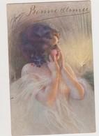 Carte Fantaisie Signée ??? / Belle Jeune Femme Nue Sous Un Voile Transparent . La Scintilla - Illustrators & Photographers