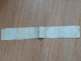 Fragment D'une Grande Charte XVIe Siècle ? Sur Parchemin - Manuscripts