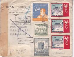 JUAN ENGEL. PARAGUAY ENVELOPPE CIRCULEE DE ENCARNACION A BIARRITZ, FRANCE ANNEE 1962 RECOMMANDE RETOUR -LILHU - Paraguay