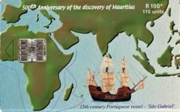 *IS. MAURITIUS* - Scheda A Chip Usata - Mauritius