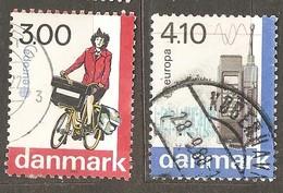 Denmark: Single Used Stamp, EUROPA, 1988, Mi#921-922 - Dänemark