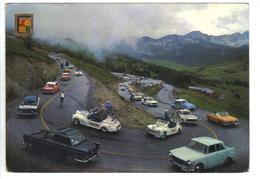CPM ANDORRE ANDORRA ENCAMP Refuge D'Envalira TOUR DE FRANCE Cyclisme Voitures Publicitaires 404 203 DS Années 1970 - Andorra