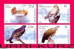 MOLDOVA 2007 Nature Fauna Bird Birds Bustard Hawk Buzzard Grouse Griffon Vulture 4v Mi590-593 Sc564-567 MNH - Moldova