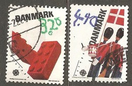 Denmark: Full Set Of 2 Used Stamps, EUROPA - Children Games, 1989, Mi#950-951 - Dänemark