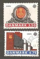 Denmark: Full Set Of 2 Used Stamps, EUROPA - Post Offices, 1989, Mi#974-975 - Dänemark