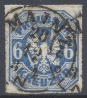 GERMANY PREUSSEN 1867 6k ULTRAMARINE Nº 26 USED - Pruisen
