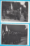 STUBICA - Tito's Relay ... Preuzimanje Stafete U Stubici 1952/53. * Croatia Ex Yugoslavia Lot Of 2. Old Photos - War, Military