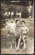 Children Two Boys And Woman Old Photo 14x9 Cm  #30663 - Anonymous Persons