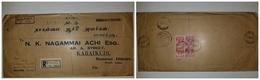O) 1954 MALAYA - PENANG, KING GEORGE VI, REGISTERED FROM PENANG, N.K. NAGAMMAI TO INDIAO) 1954 MALAYA - PENANG, KING GEO - Penang