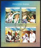 SALOMON LADY DIANA 2015 (7) N° Yvert 2941 à 2944 Oblitérés Used - Solomon Islands (1978-...)