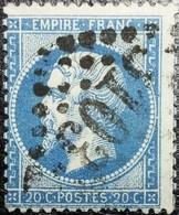 N°22. Rare Variété (Filet Inférieure Du Cadre Doublé). Oblitéré Losange G.C. N°3103 Reims - 1862 Napoléon III