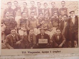 VINÇA (PYRÉNÉES-ORIENTALES): U.S. VINÇANAISE (RUGBY) (PHOTO DE JOURNAL: 09/1932) - Languedoc-Roussillon