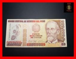 PERU 5.000.000 5000000 Intis 16.1.1991 P. 150 IPSZ   VF - Perù