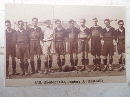 BOULOGNE (PAS-DE-CALAIS): U.S. BOULONNAISE- JUNIOR A (FOOTBALL) (PHOTO DE JOURNAL: 09/1932) - Picardie - Nord-Pas-de-Calais