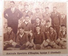 ETAPLES (PAS-DE-CALAIS): AMICALE SPORTIVE D'ETAPLES- EQUIPE 1 (FOOTBALL) (PHOTO DE JOURNAL: 09/1932) - Picardie - Nord-Pas-de-Calais