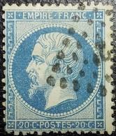 N°22. Rare Variété (Filet Inférieure Du Cadre Doublé). Oblitéré Losange Ambulant - 1862 Napoléon III
