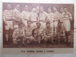 SALLÈLES (AUDE): U.S. SALLÈLES- EQUIPE 1 (RUGBY) (PHOTO DE JOURNAL: 09/1932) - Auvergne