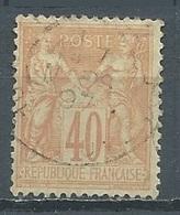 France YT N°94 Sage Type II Oblitéré ° - 1876-1898 Sage (Type II)