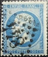 N°22. Rare Variété (Filet Inférieure Du Cadre Doublé, Perle Relié). Oblitéré Losange G.C. N°844 Châlons-en-Champagne - 1862 Napoléon III