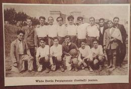 PERPIGNAN (PYRÉNÉES-ORIENTALES): WHITE DEVILS PERPIGNANAIS JUNIORS (FOOTBALL) (PHOTO DE JOURNAL: 08/1933) - Languedoc-Roussillon