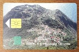 ANTILLES NEÉRLANDAISES SAINT-MARTIN SATEL PHONECARD 120 UNITS - Antilles (Neérlandaises)