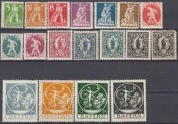 BAYERN 178-195, Postfrisch *, Abschiedsausgabe, 1920 - Bavière