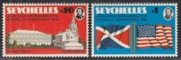 SEYCHELLEN 356-357, Postfrisch **, 200 Jahre Unabhängigkeit Der Vereinigten Staaten Von Amerika, 1976 - Seychellen (1976-...)