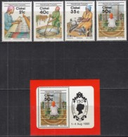 CISKEI 170-173 + Block 5, Postfrisch **, Teppichherstellung 1990 - Ciskei