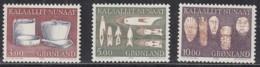 GRÖNLAND  186-188, Postfrisch **, Alte Gebrauchsgegenstände, 1988 - Grönland