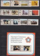 NICARAGUA 1930, 1932, 1934-6, 1938, 1940-1945,  Block 93, Postfrisch **, 200 Jahre Unabhängigkeit Der USA 1976 - Nicaragua