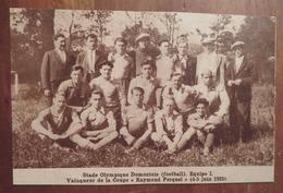 DOMONT (VAL-D'OISE): STADE OLYMPIQUE DOMONTOIS- EQUIPE 1 (FOOTBALL) (PHOTO DE JOURNAL: 08/1933) - Ile-de-France