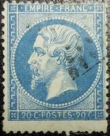 N°22. Variété (Voir Partie Inférieure Du Cadre). Oblitéré Losange - 1862 Napoléon III