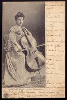 GUILHERMINA SUGGIA Musica Violoncelista (Orquestra Orpheon Do Porto), Companheira De PABLO CASALS. Old Postcard PORTUGAL - Musica E Musicisti