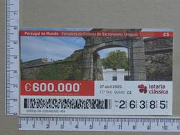 PORTUGAL - 2020 - LOTARIA CLASSICA -  17ª -  2 SCANS   (Nº35840) - Lottery Tickets