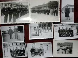 Lot 9 Petites Photos GENDARMERIE - Garde DARRAS Marmande, Nogent, Boppard, Chaumont 1952, 1939, 1947 - Oorlog, Militair