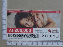 PORTUGAL - 2020 - LOTARIA CLASSICA -  18ª -  2 SCANS   (Nº35841) - Lottery Tickets