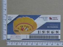 PORTUGAL - 2019 - LOTARIA POPULAR -  35ª -  2 SCANS   (Nº35842) - Lottery Tickets