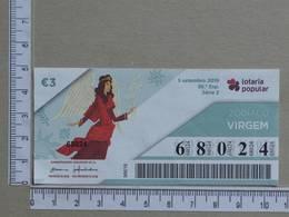 PORTUGAL - 2019 - LOTARIA POPULAR -  36ª -  2 SCANS   (Nº35843) - Lottery Tickets